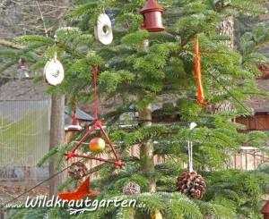 Weihnahtsbaum fuer Wildvoegel
