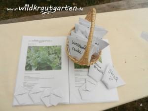Samen-Tauschboerse auf einem Event von IKnews